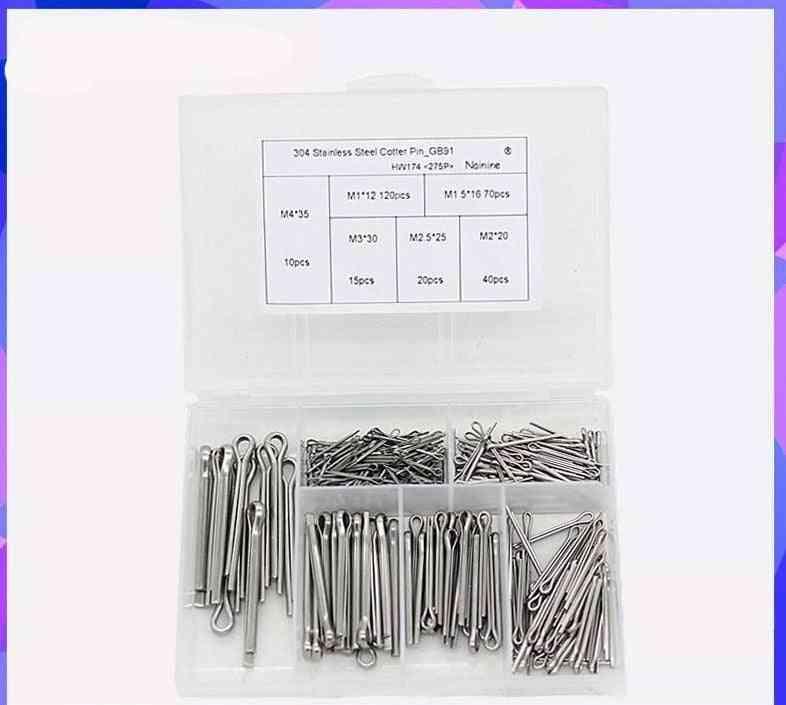 304 Stainless Steel Cotter Pins-fastener Assortment Kit