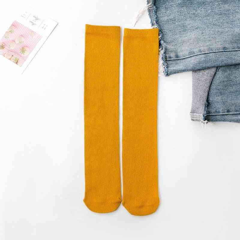 Baby Cotton Knee High Long Leg Warmers, Cute Socks