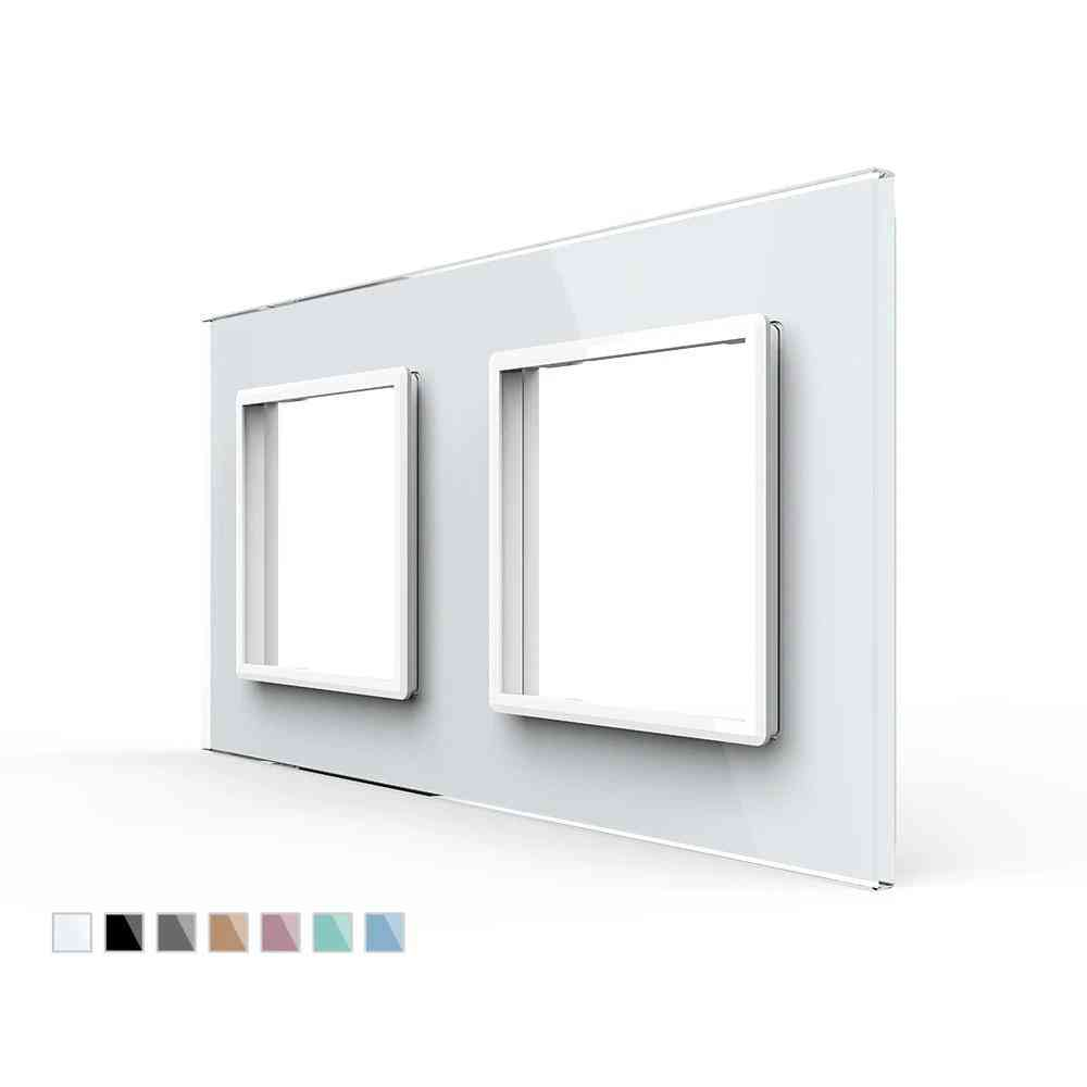 Luxury Pearl Crystal Double Glass Panel For Wall Switch & Socket