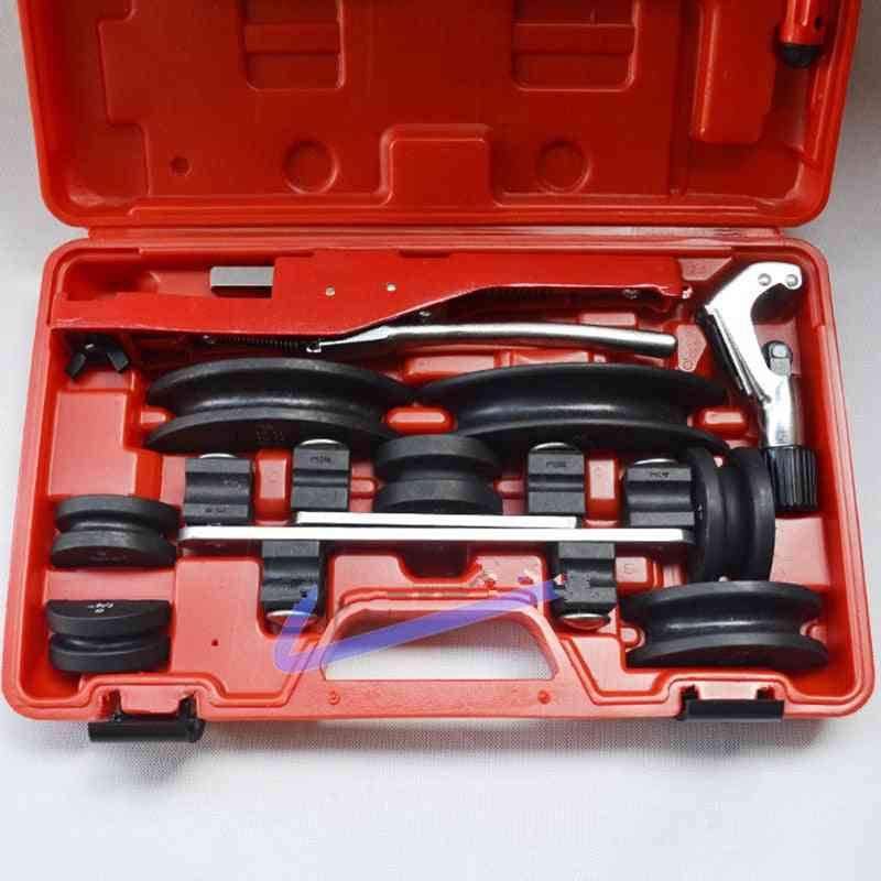 90 Degree Multi Tube Bending Tool Kit, Ct-999 Brass Pipe Bender Refrigeration Repair Tools With Cutter