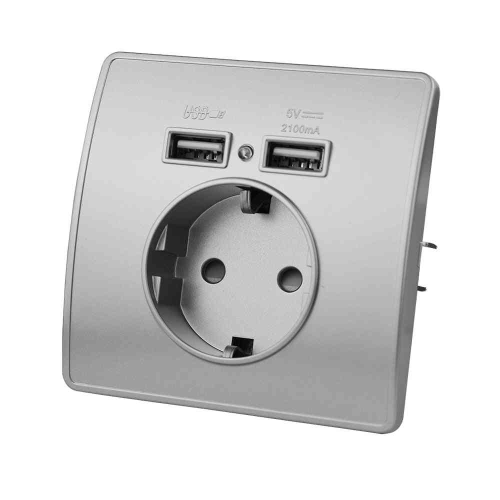 Eu Standard Electrical Wall Charger Adapter, - Power Socket Outlets Pc Panel