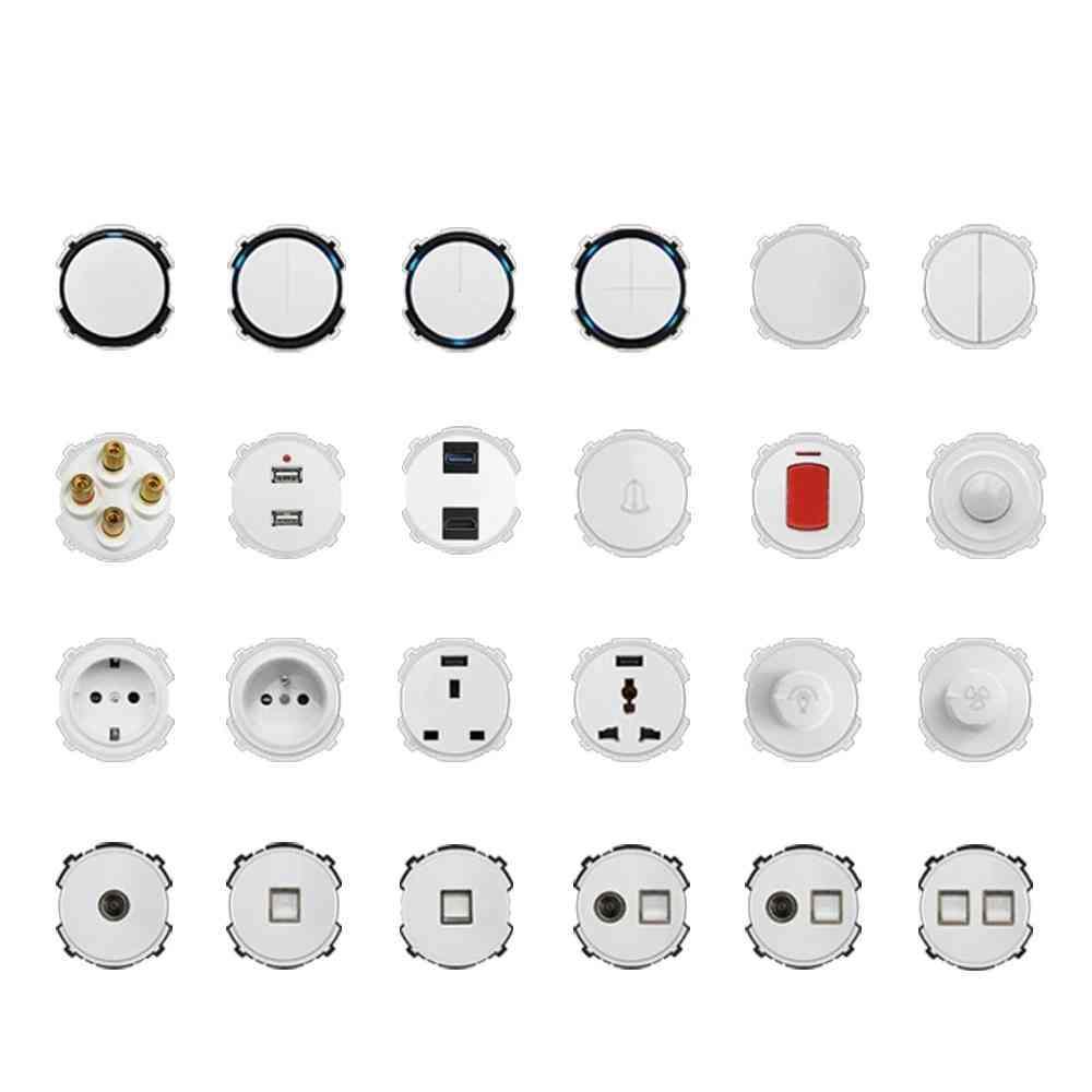 White Wall Light Switch Led, Indicator Wallpower Socket