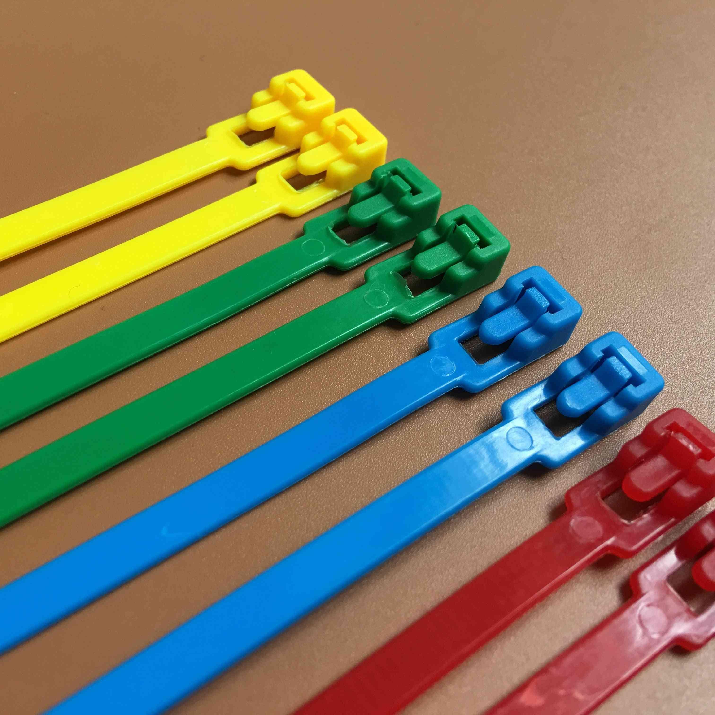 Colored Plastics, Reusable Cable, Loop Wrap Nylon Zip Ties