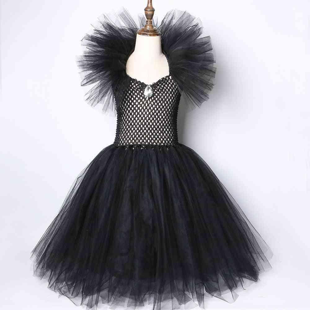 Maleficent Devil Costumes, Kids Tutu Dress