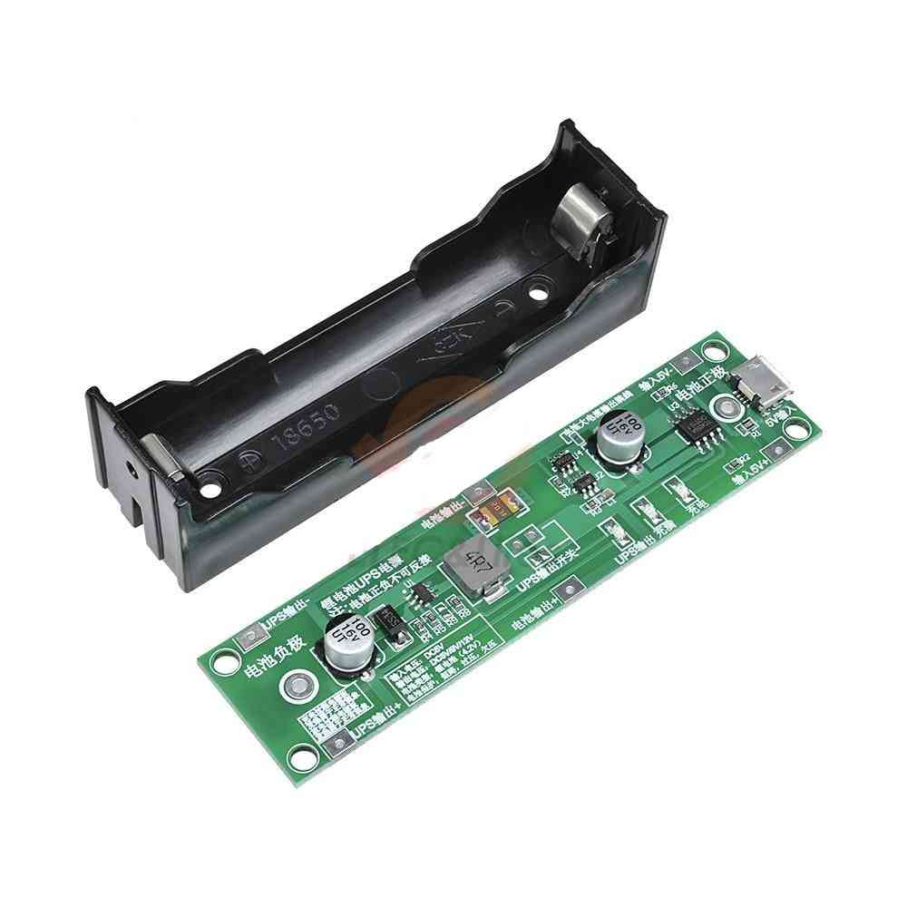 5v Micro Usb 18650 Lithium Battery Charger- Ups Voltage Converter