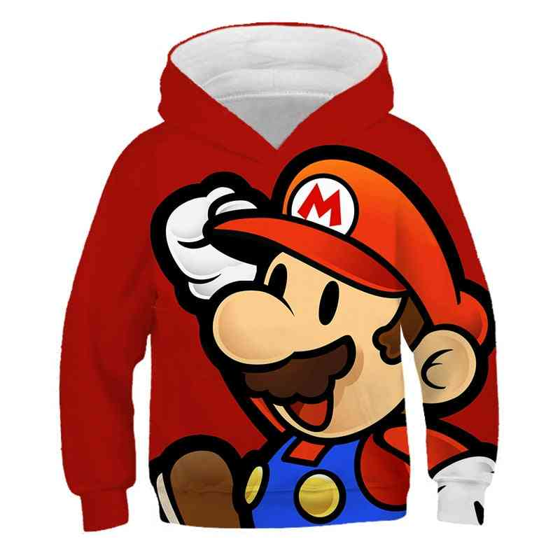 3d Print Super Mario Hoodie For Kids