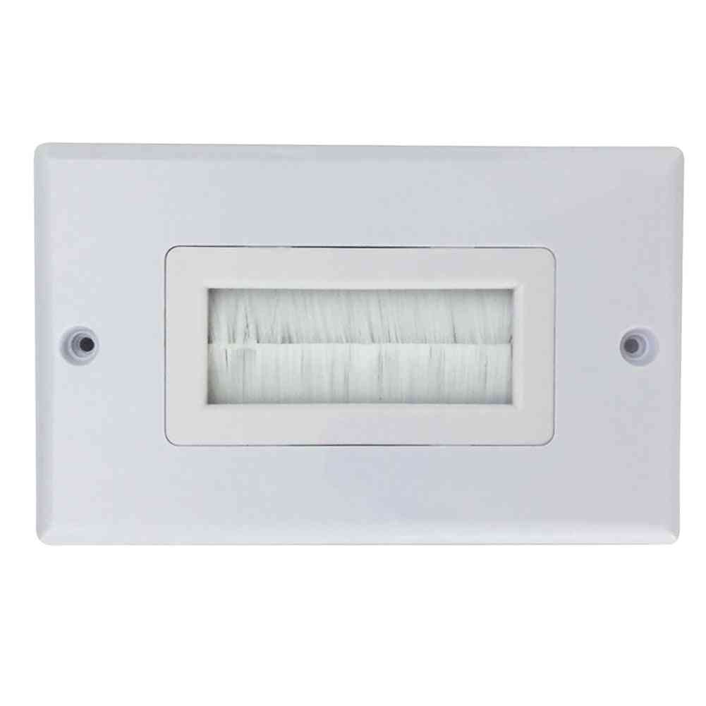 White Brush Wall Plate For Pre Made Leads