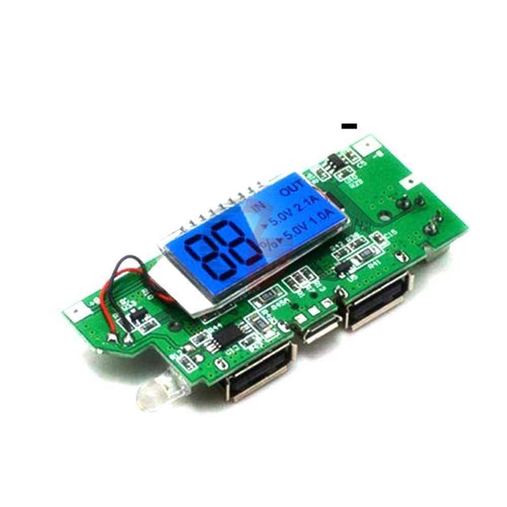 Dual Usb 18650 Lithium Battery Charging Board