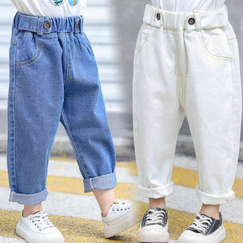Jeans Pants, Loose Elastic Waist Pant For