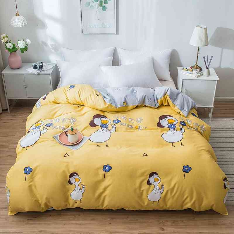 dual-sided Duvet Cover, soft Comfortable Cotton Printing Comforter -textiles Set 2
