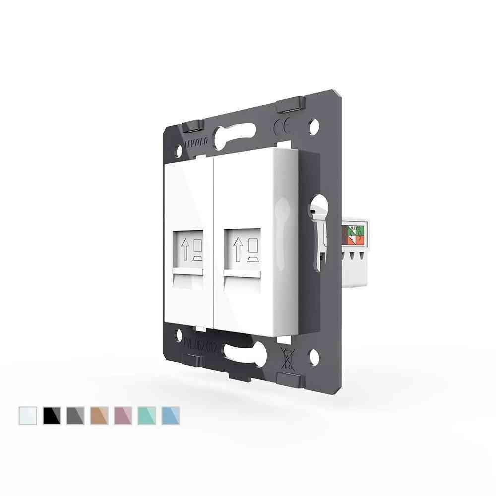 Rj45 ,vl-c7-2c-11 Socket Outlet Plug For 2-gangs