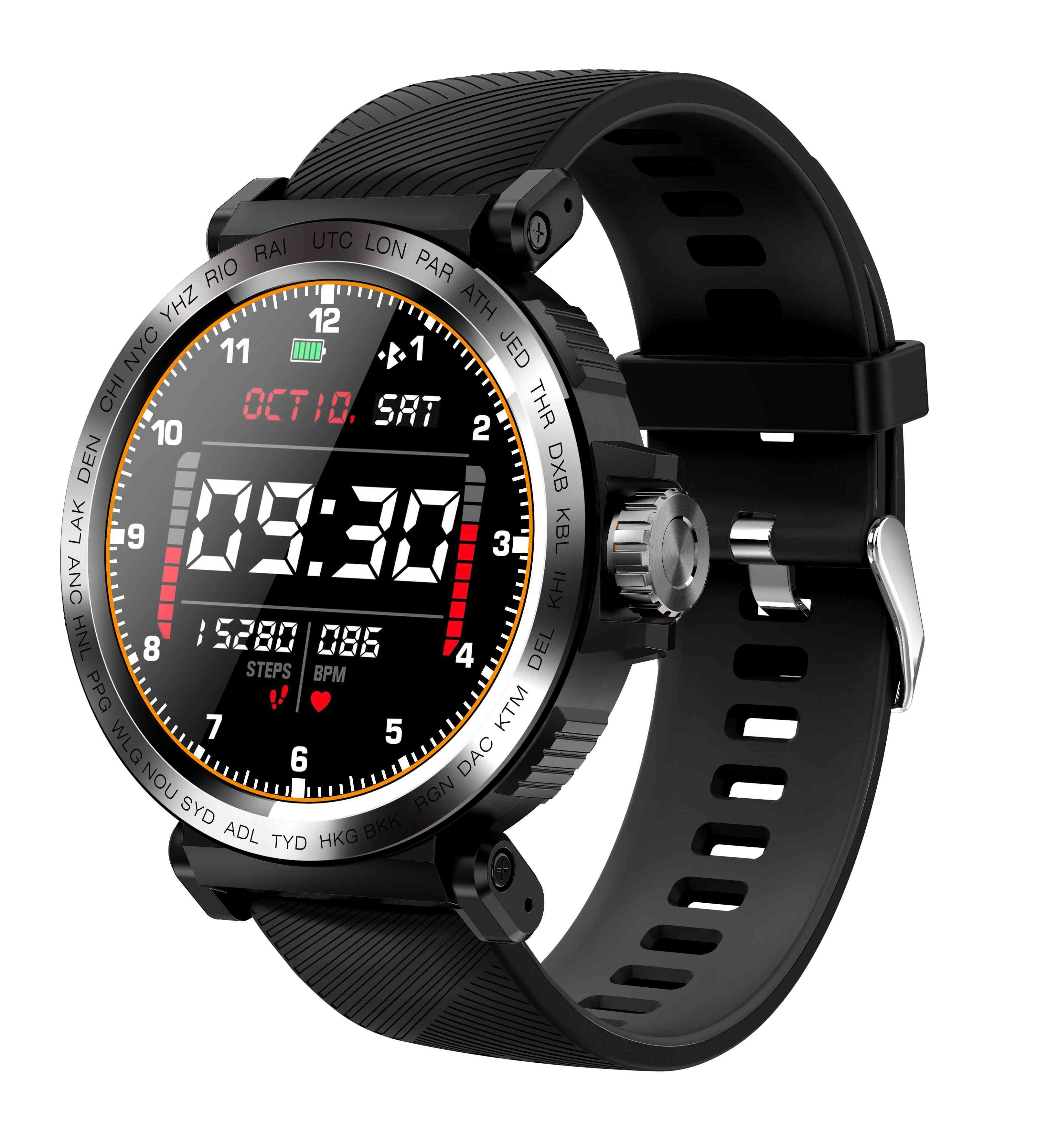 Sport Ip68 Waterproof Smart Watch, Screen Touch Clock