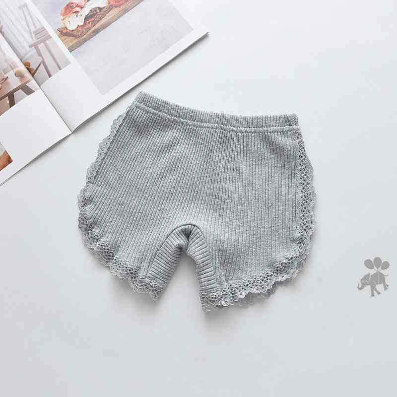 Girls Lace Shorts, Safety Pants Underwear- Cute Briefs