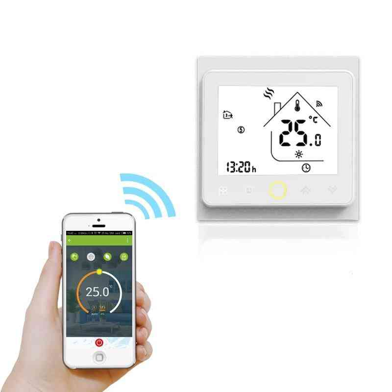 Wifi Smart Touch Thermostat For Water/electric Floor Heating