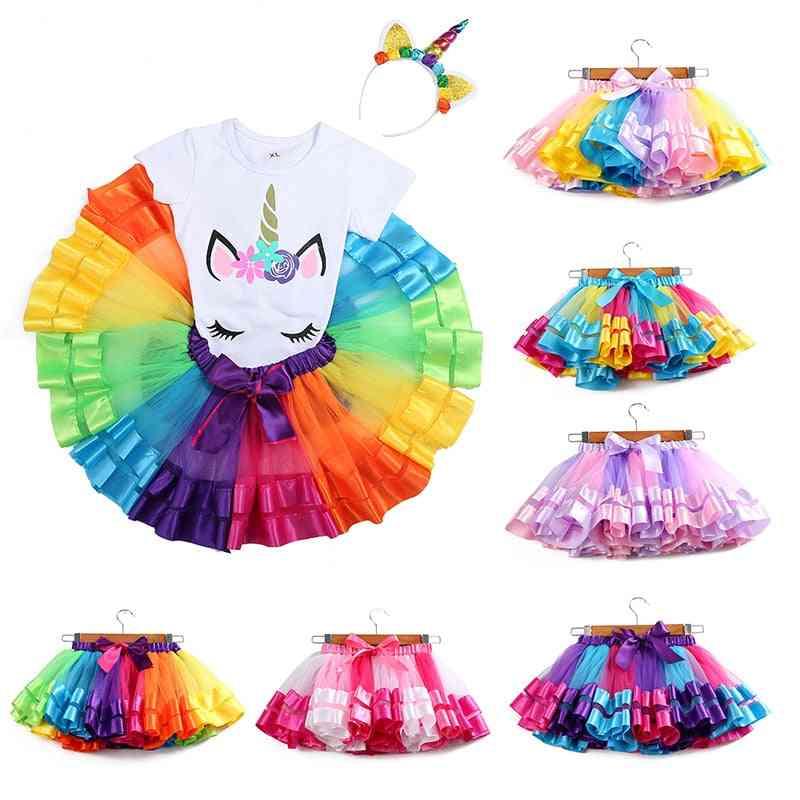 Baby Tutu-tulle Skirt, 3m-8t Princess Mini Party Dance Clothes