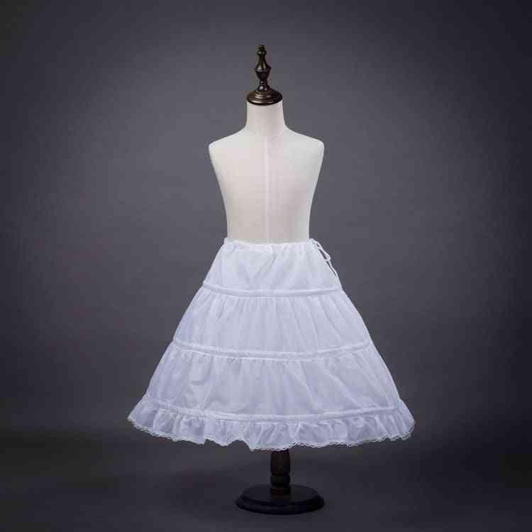 Children White Ballet Skirt, Tulle Ruffle Short - Bridal Wedding Petticoats