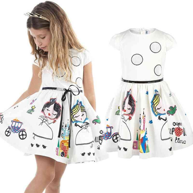 Girls Princess Dress With Sashes Robe
