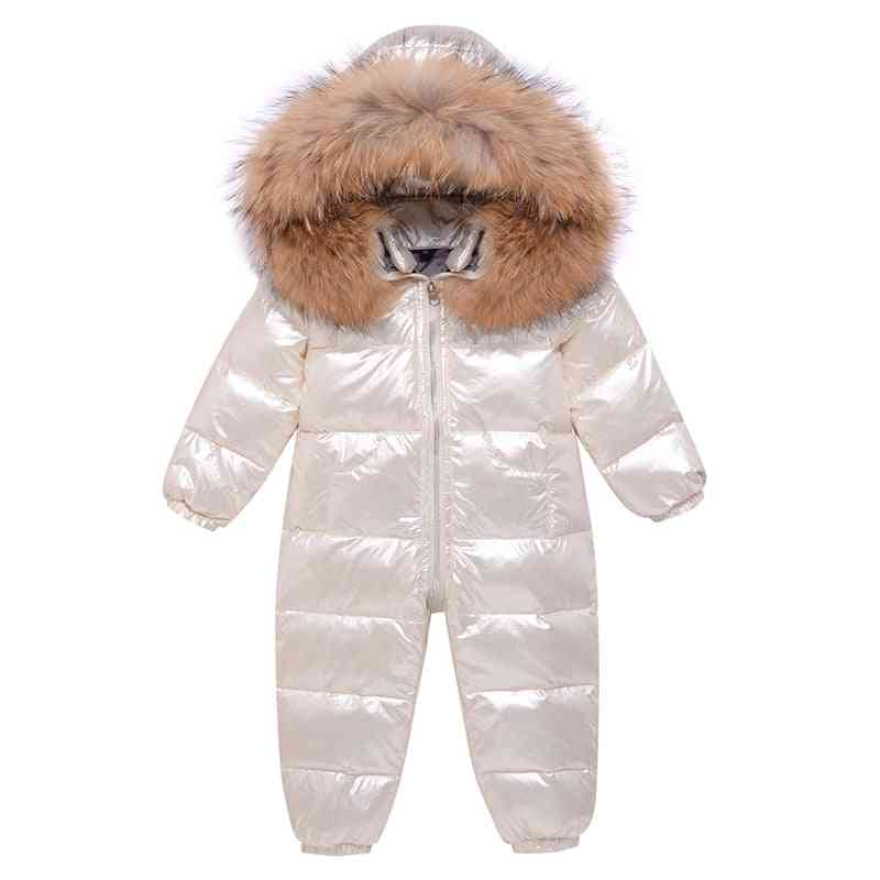 Winter Overalls Baby Clothing Clothes Snowsuit, Duck Down Jacket For Girl