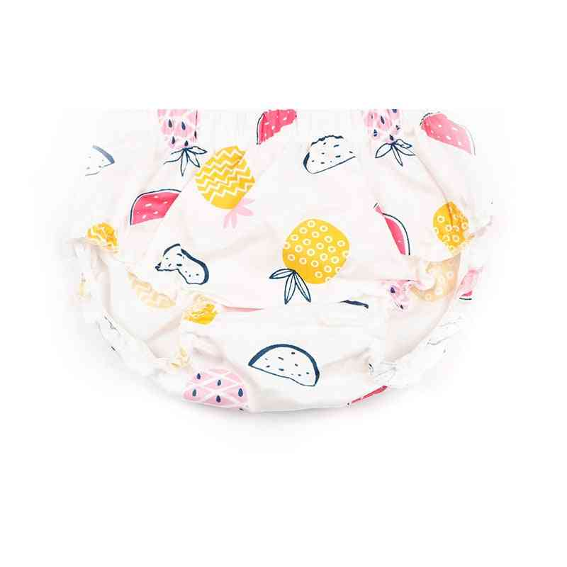 Baby Bloomers Fruit Pineapple Printed Ruffle Cotton Diaper Cover Shorts Baby Panties