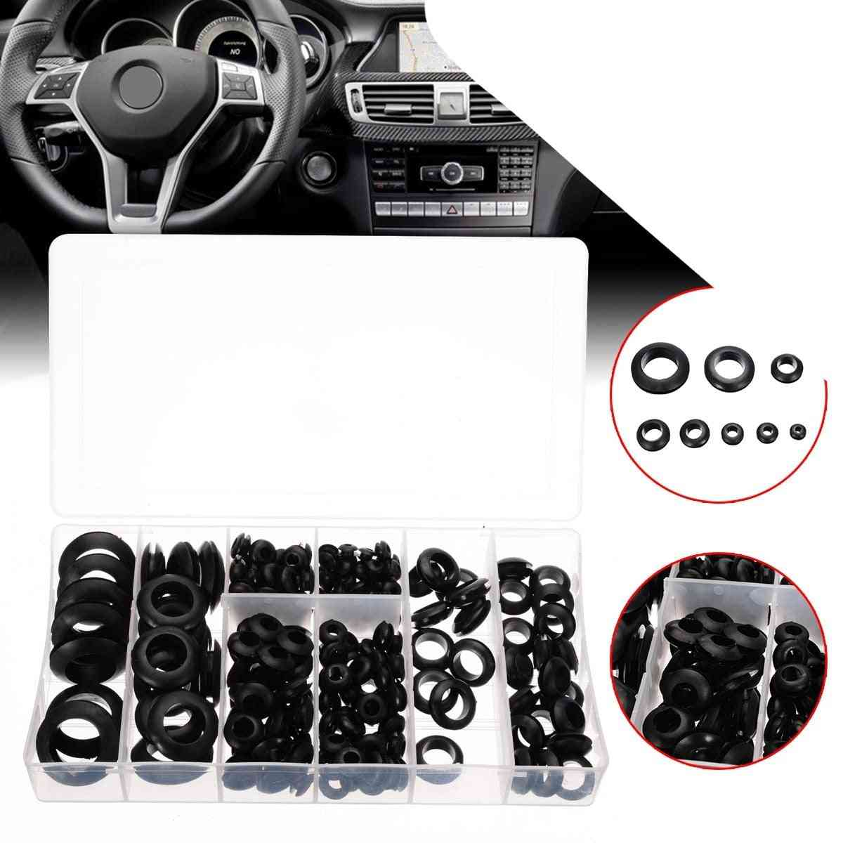 Rubber Grommet Assortment Set - Electrical Wire Gasket Kit
