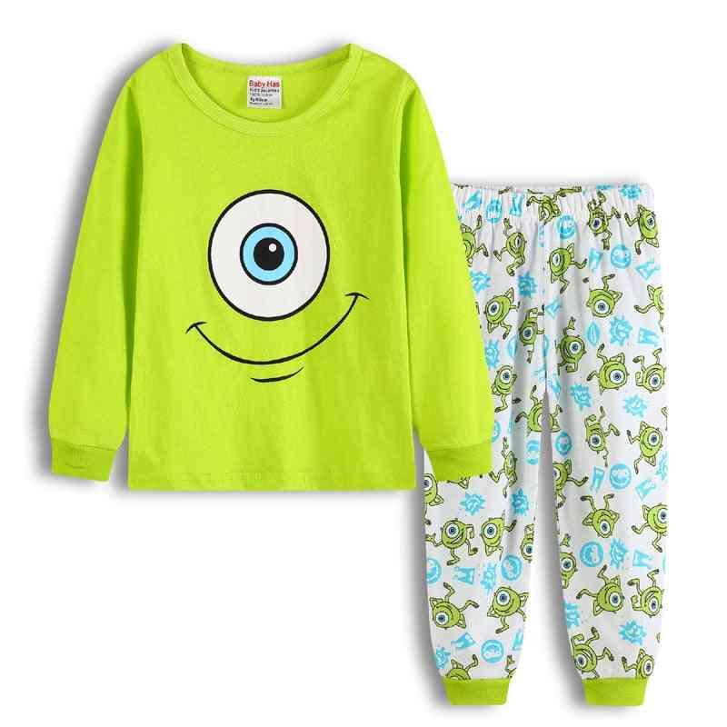 Pajama Dinosaur Print Sleepwear For Nightwear Set-1