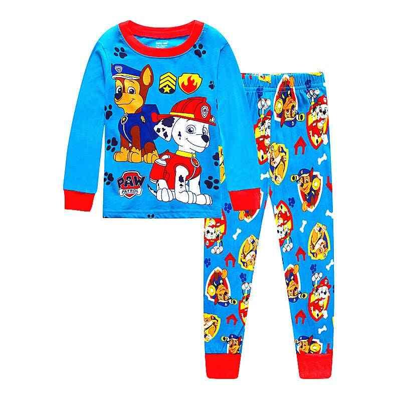 Pajama Dinosaur Print, Sleepwear For Kid Girls Nightwear Set-2