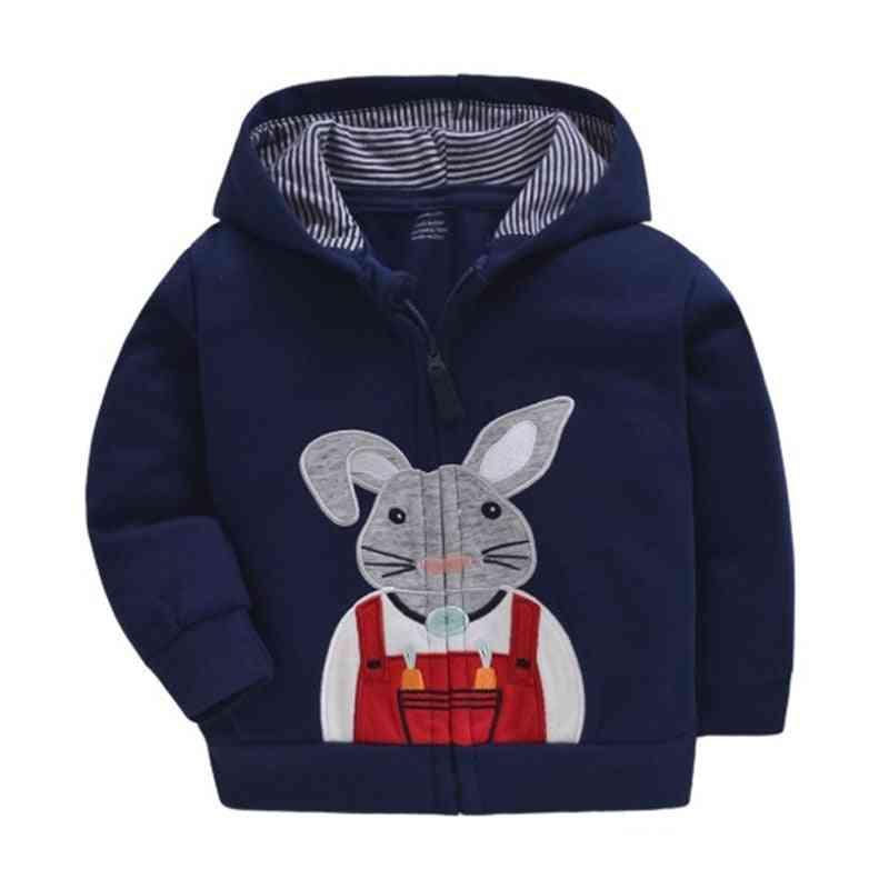 Baby Sweatshirts Cotton Cartoon Tops Truck Rainbow Outwear Hooded