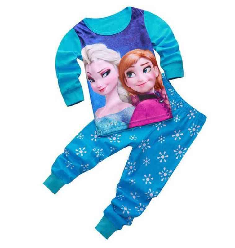 Children Clothing, Cartoon Printed Pijama, Top For Set-3