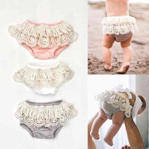 Adorable Newborn Baby Girl Underwear Ruffle Frilly Pp Pants Nappy Cover Sunsuit Diaper