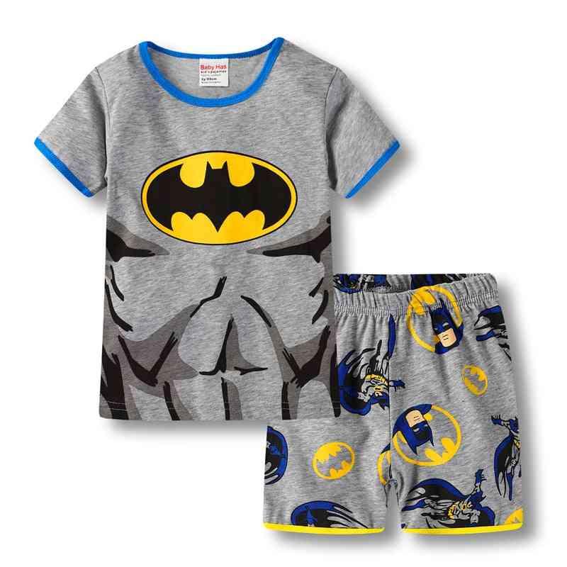 Kid Boy, Girl Pajamas, Summer Cotton, Short Sleeve T Shirt Sleepwear