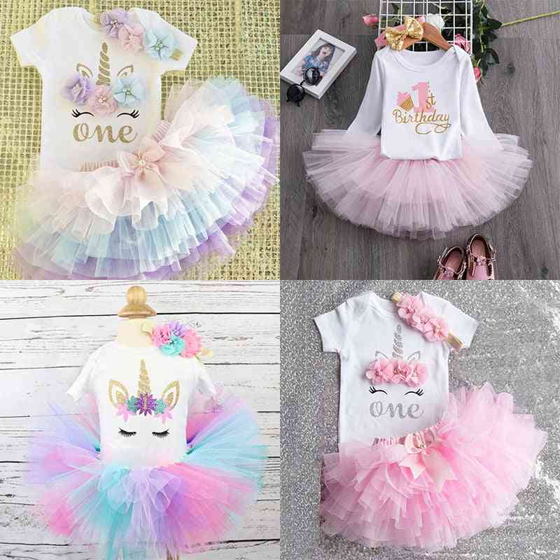 Baby Girl 1st Birthday Party Dress, Cute Tutu Cake Outfits Dresses