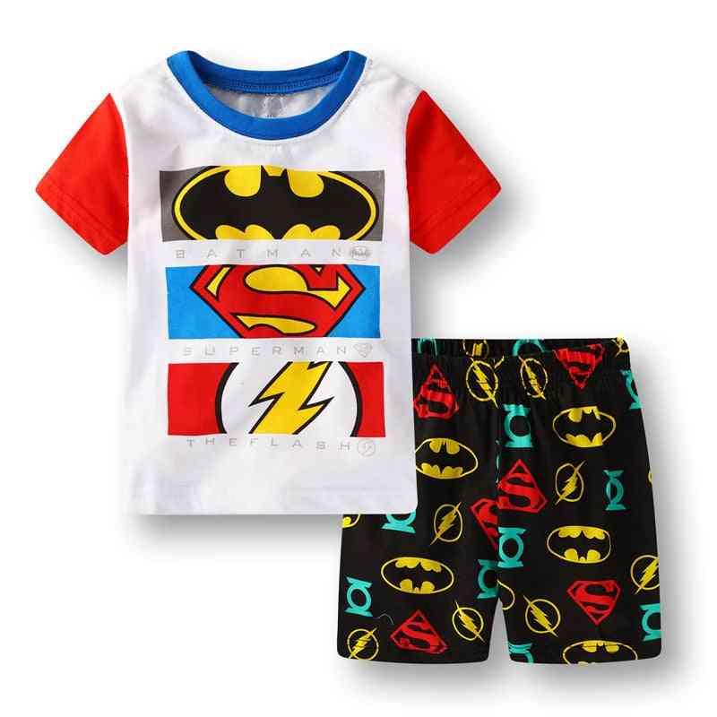 Boy & Girl Pajamas, Summer Cotton Short Sleeve T-shirt Sleepwear