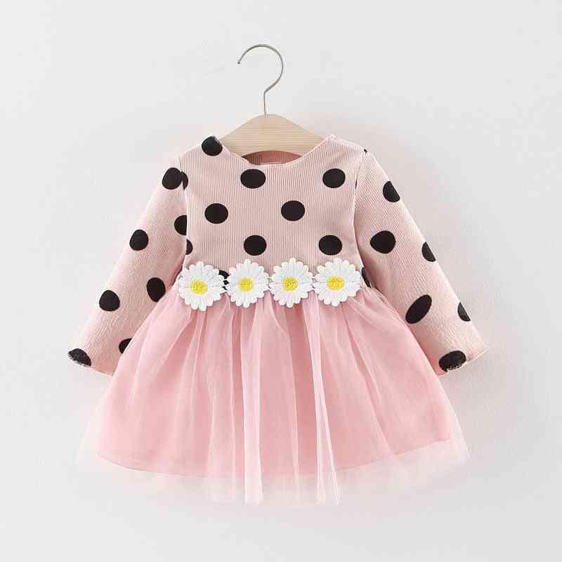 Autumn Long Sleeve Dress, Baby Princess Polka Dot, Fashion Dresses