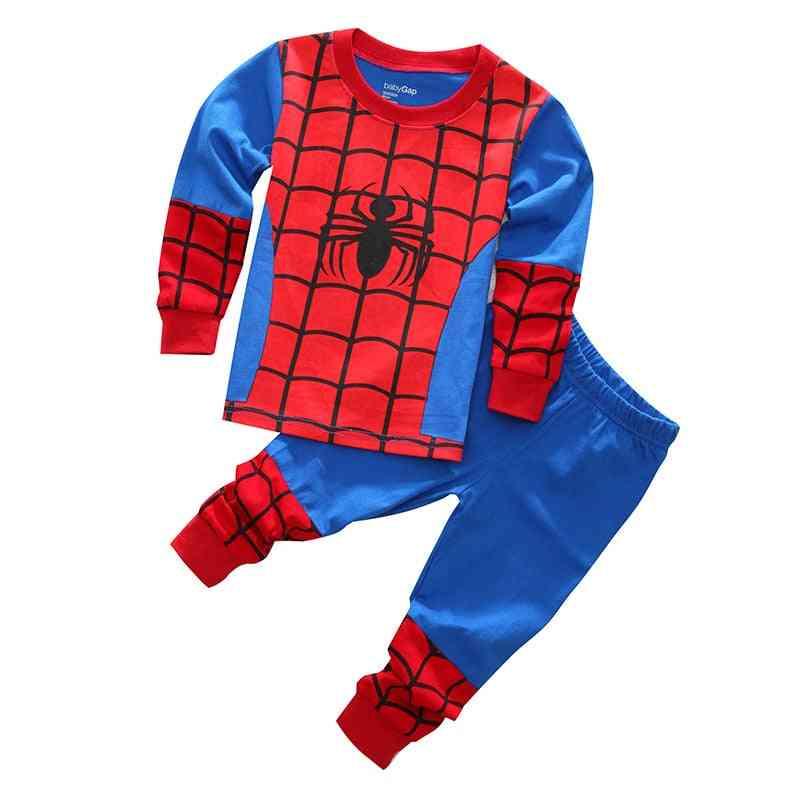 Children's Pajamas, Spring, Long Sleeve T Shirt+pant, Boy Girl Baby Sleepwear Set