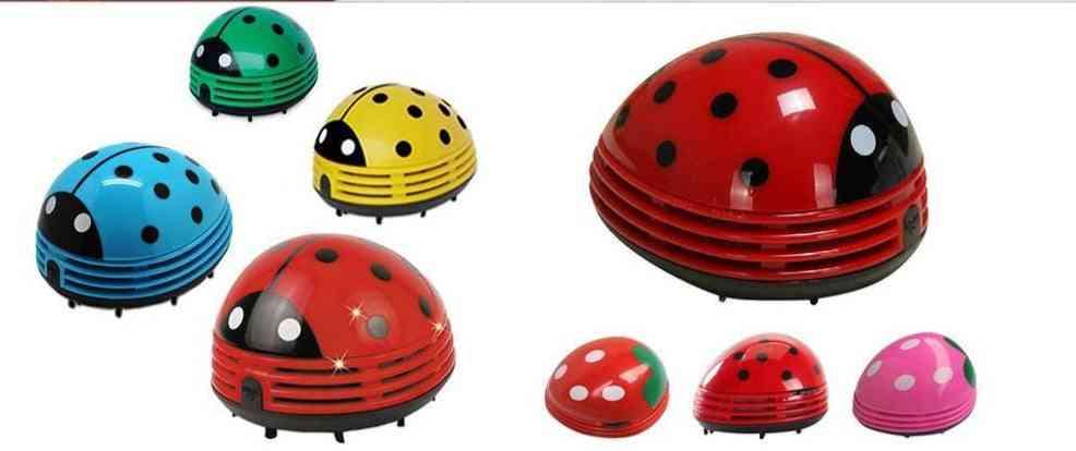 5w Mini Ladybug Shape Desktop Vacuum Cleaner