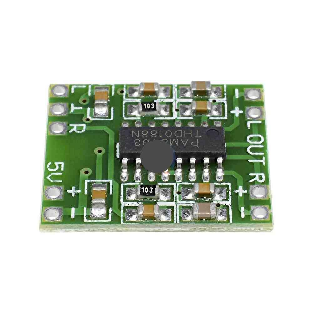 Digital Amplifier Board, 2*3w Class D 2.5v To 5v Power Audio Sound Speaker