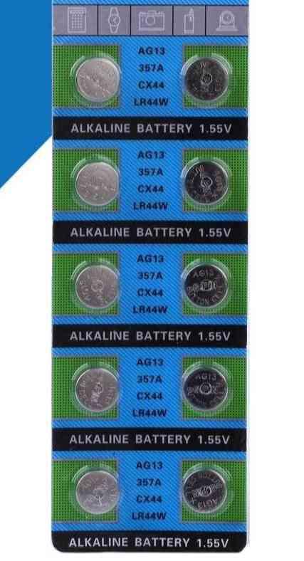 10pcs Of 30mah ,1.55v Ag13 Coin Batteries