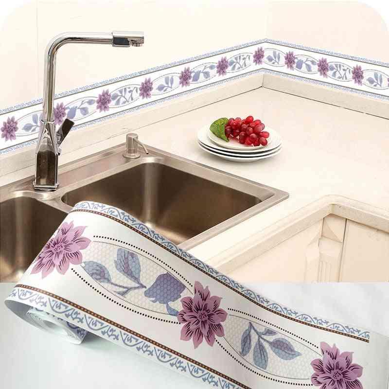 Diy Self-adhesive, Waterproof, 3d Floral Wallpaper - Border Decoration Stickers