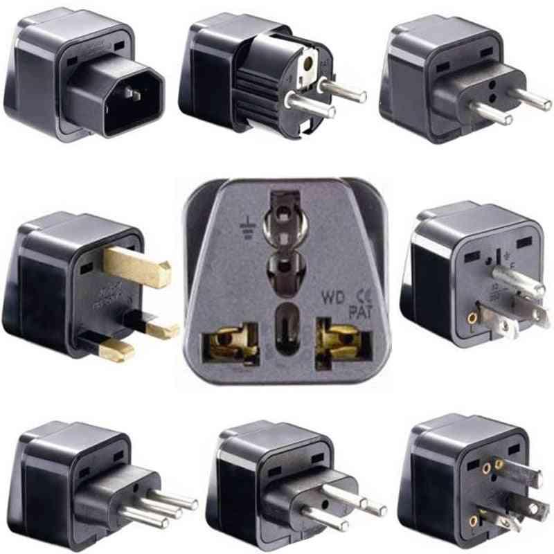 Universal American, And European Power Plug Adapter
