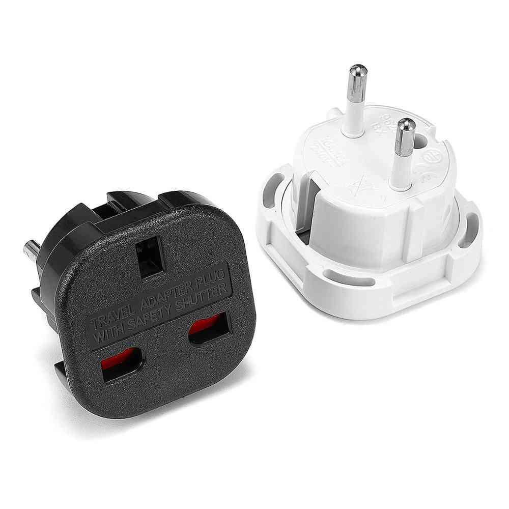 1pc Universal Uk To Eu Plug Converter