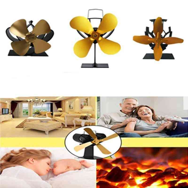 Silent Blades Fireplace Stove Fan