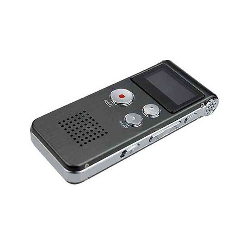8gb Digital Voice Recorder- Rechargeable Dictaphone