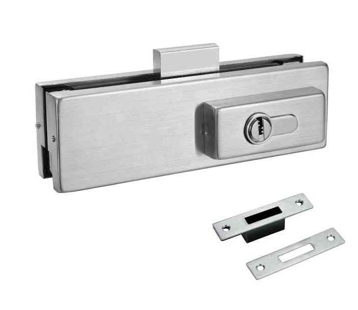 Stainless Steel Glass Door Patch, Fitting Lock Bottom Clamp