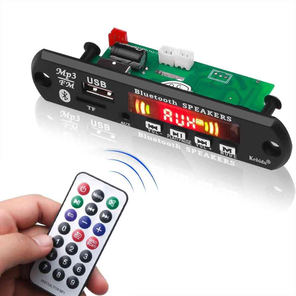 Hands-free Mp3 Player, Decoder Board - Bluetooth 5.0