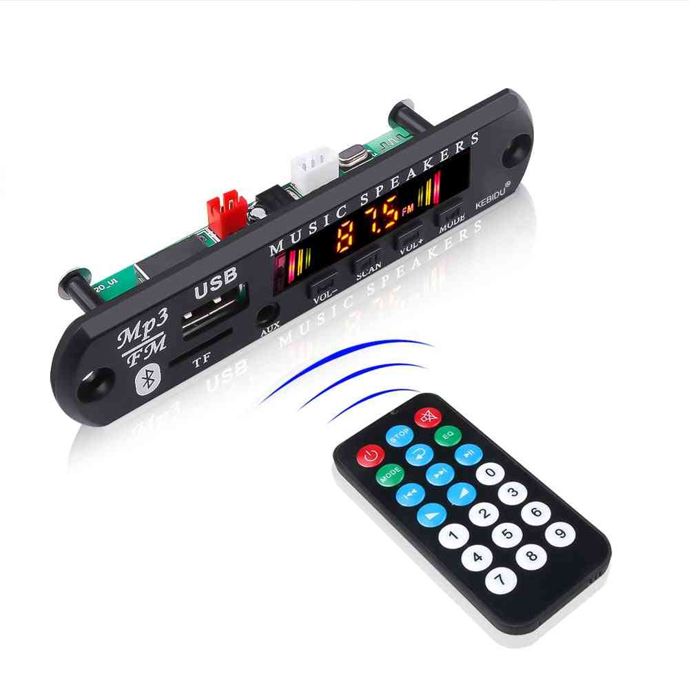 Bluetooth 5.0 Receiver Car Kit Mp3 Player- Decoder Board