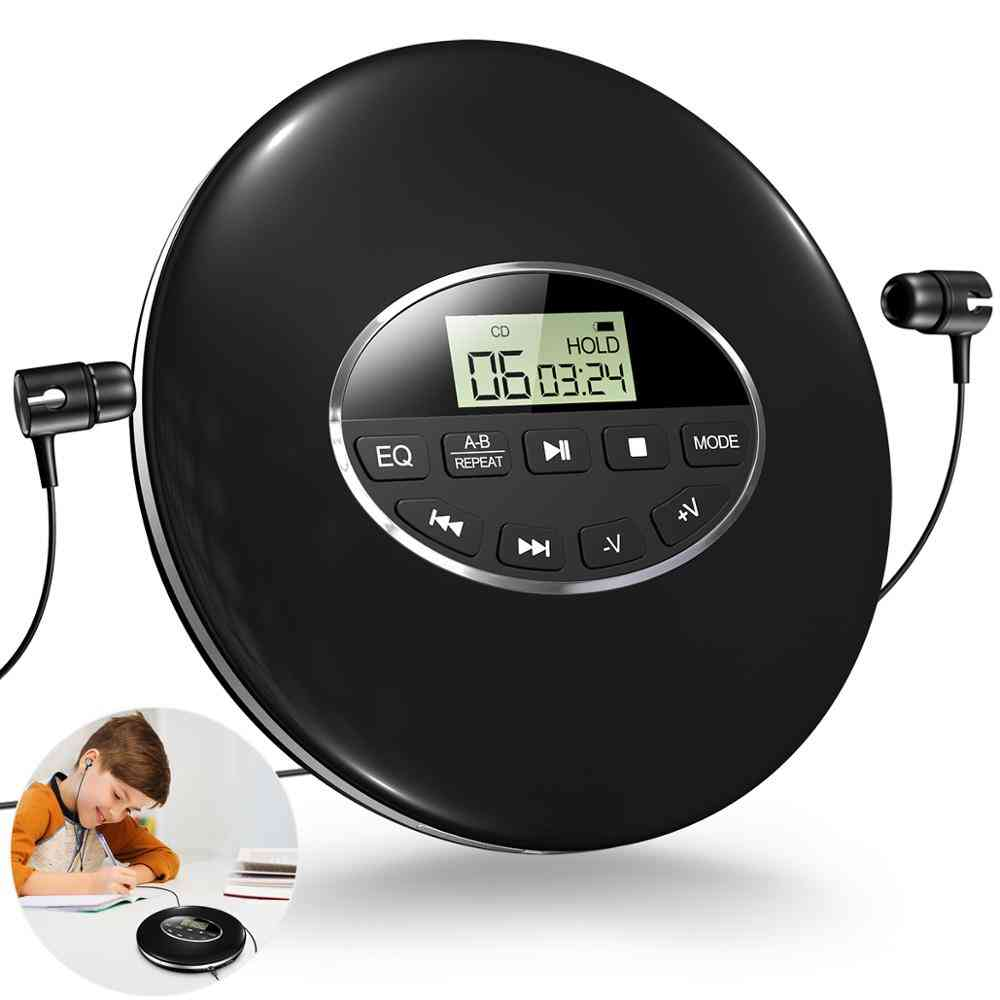 Round Style Portable Cd Player Headphone, Hifi Music Reproductor