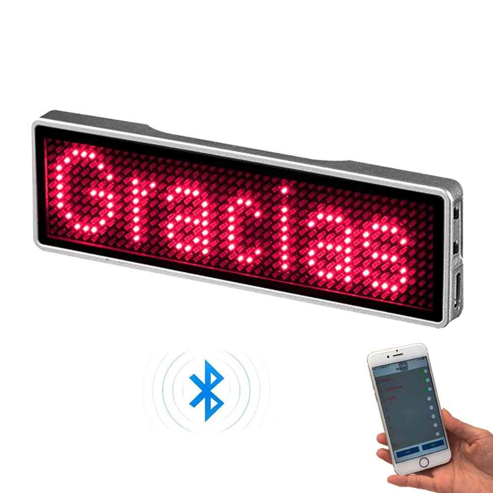 Rechargeable Bluetooth Digital Led Badge (93*23mm)