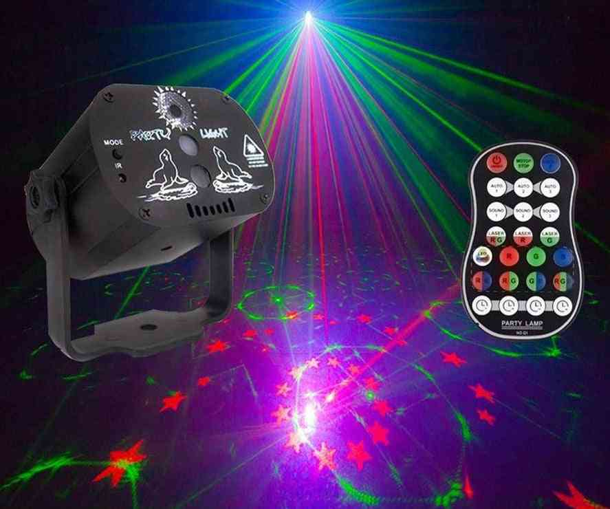 Mini Laser Stage Light With 60 Patterns Rgb Led , Usb Cable And Remote Control