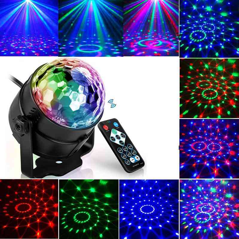 3w Dj Strobe Led Disco Ball -sound Activated Laser Projector With Remote Control