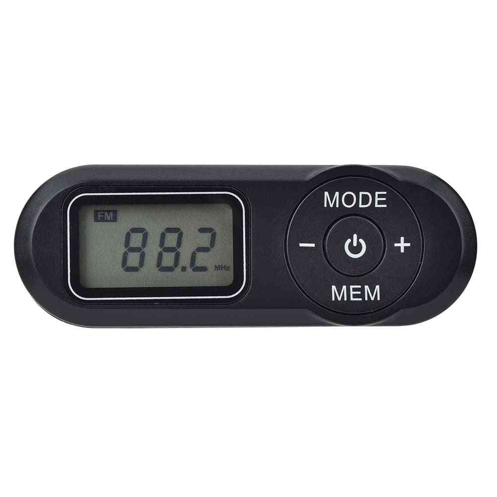 Digital Portable Pocket Fm Radio-108mhz With Lcd Display